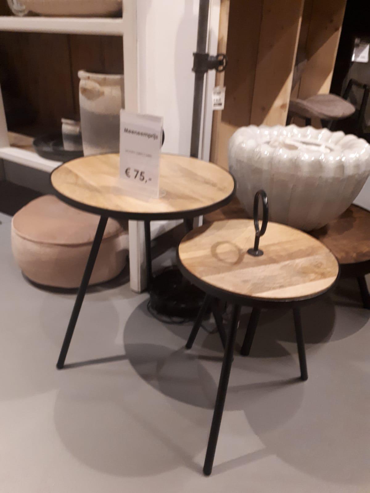 salontafel set van 2 rond