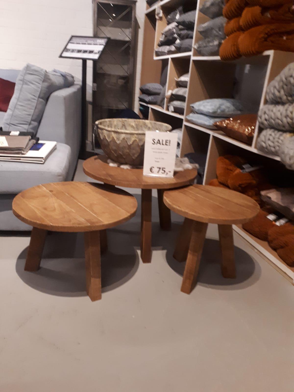 salontafels set van 3 rond