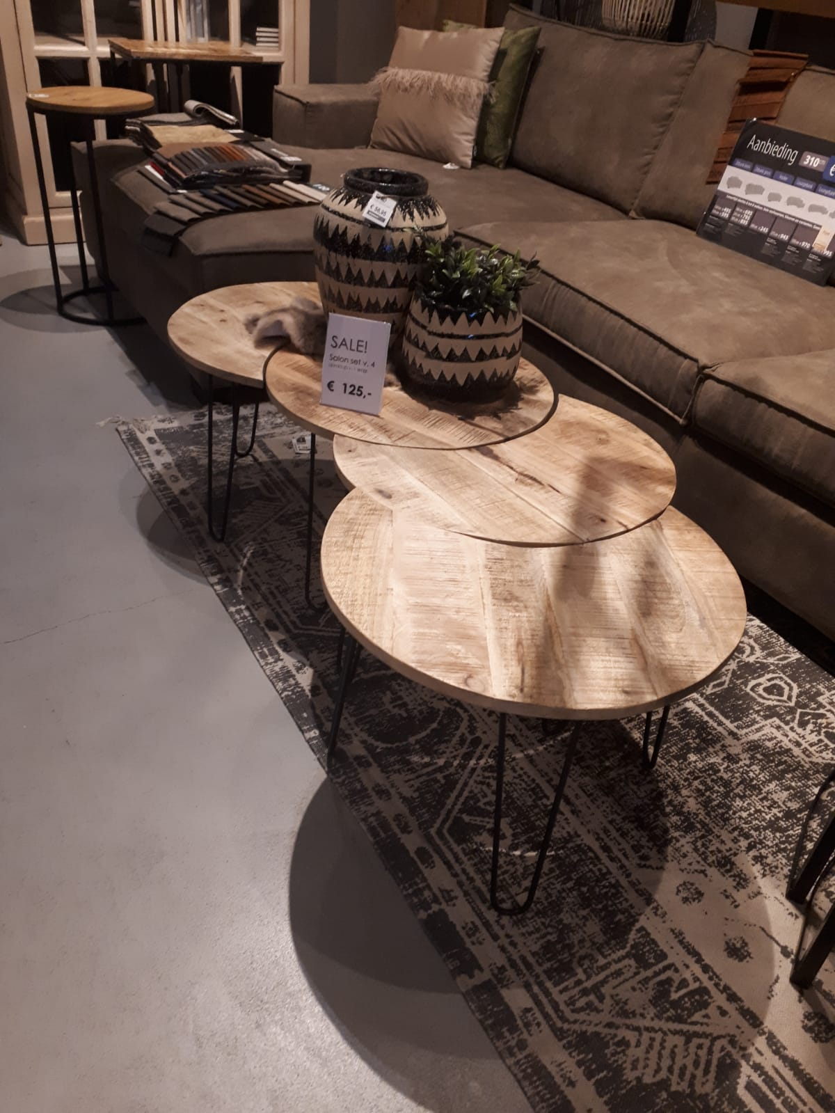 salontafel set van 4