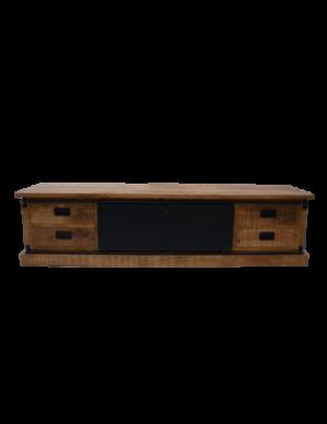 Nora tv kast 200 cm - Mango hout