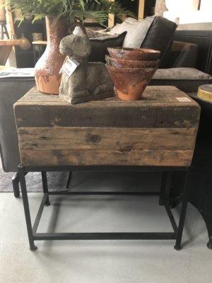 Bijzettafel oud hout