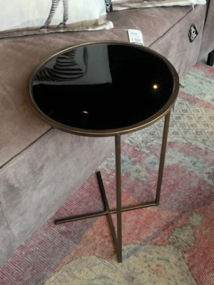 Banktafel goud met zwart