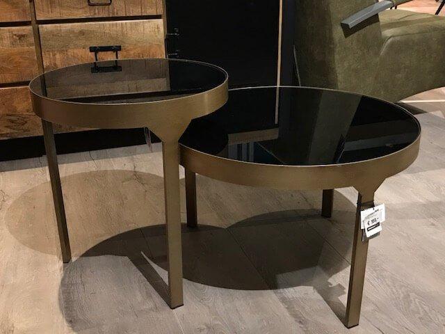 Salon set van twee goud met zwart