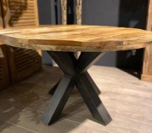 Tafel rond mango hout- Sfeerwonen Enzo